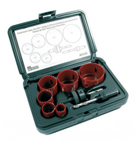 Morse 8 Piece Electricians Hole Saw Kit