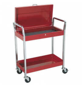 Trolley 2-Level Heavy-Duty with Lockable Top