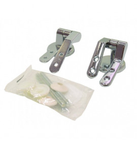 Polished Chrome Pillar Type Toilet Seat Hinges