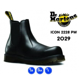 Dr Martens Icon Black Smooth Leather Dealer Safety Boot