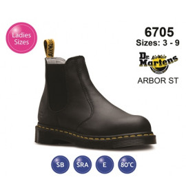 Dr Martens Arbor ST Black Leather Womens Safety Boot