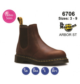 Dr Martens Arbor ST Teak Leather Womens Safety Boot
