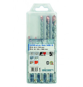 Alpen 5pc SDS Plus Hammer Drill Set