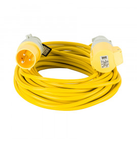 Defender 14M Extension Lead - Yellow - 110V
