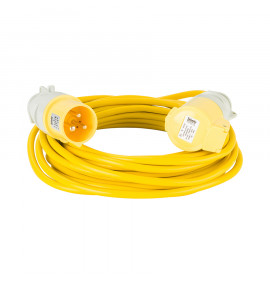 Defender 10M Extension Lead - Yellow - 110V