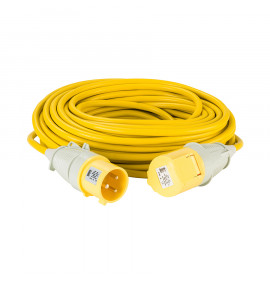 Defender 25M Extension Lead - Yellow - 110V