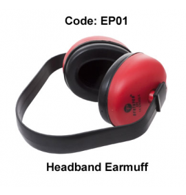 Proforce Headband Earmuff (Red/Black)