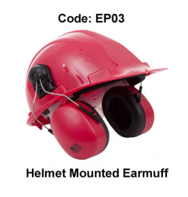 Proforce Helmet Mounted Earmuff (Red)