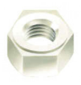 PVDF Fastener - Hexagonal Nuts - Natural