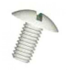 Slotted Mushroom Head Screws - Natural Nylon