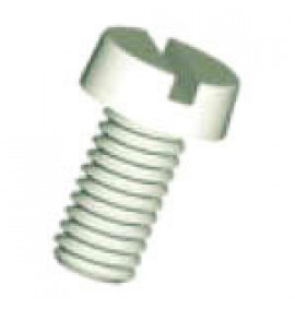 Slotted Cheese Head Screws - Natural Nylon