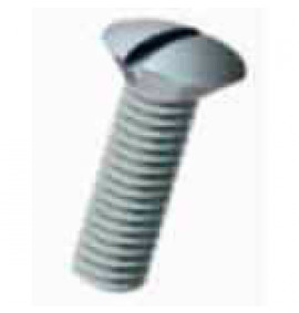 Raised Slotted Countersunk Screws  - Natural Nylon