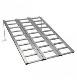 Motorcycle/Trike/ATV & Mini Tractor Ramp Wide Tri-Fold (680kg Capacity)