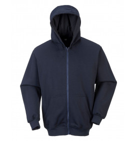 Portwest FR Zip Front Hooded Sweatshirt
