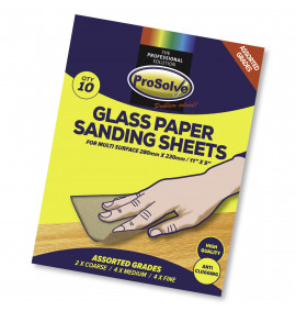 PROSOLVE ASSORTED 9″X11″ GLASS PAPER SANDING SHEET
