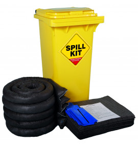 120 Litre General Purpose Kit - Yellow Wheelie Bin