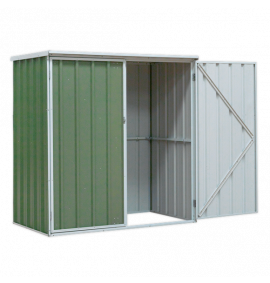Galvanized Steel Shed Green 1.5 x 0.8 x 1.5m