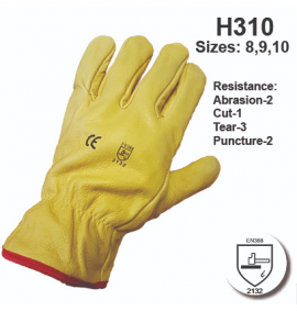 Himalayan Yellow Grain Drivers Lined Gloves (Pack of 10)