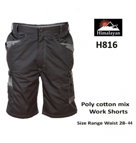 Himalayan Black Icon Work Shorts