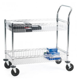 Chrome Plated Wire Tray Trolley - SWI42Y