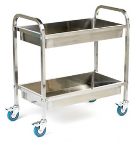 Deep Shelved Stainless Steel Trolleys - SI822Y