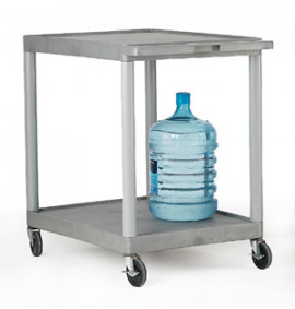 Grey Shelf Trolleys - Large