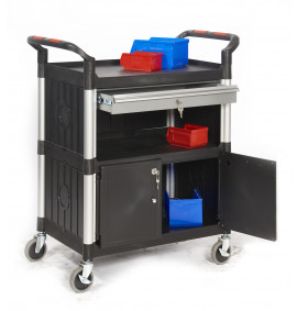 'Proplaz' Shelf Trolleys with Drawers/Cupboards