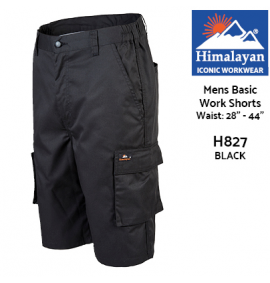 Himalayan Icon Basic Black Work Shorts
