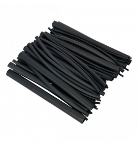 Heat Shrink Tubing Assortment 720pc Black Adhesive Lined 200mm