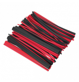 Heat Shrink Tubing Assortment 720pc Black & Red Adhesive Lined 200mm