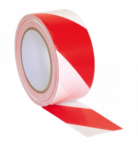 Hazard Warning Tape 50mm x 33m Red/White