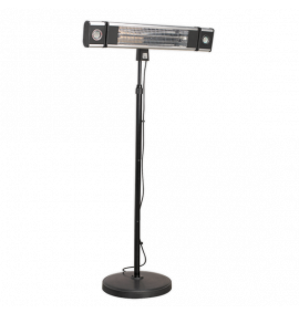 High Efficiency Infrared Patio Heater with LED Lights & Telescopic Stand
