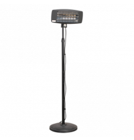 Infrared Quartz Patio Heater 2000W/230V with Telescopic Floor Stand