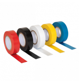PVC Insulating Tape 19mm x 20m Mixed Colours Pack of 100