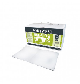 Portwest Multi-Purpose Dry Wipes 1 Box Of (150 Wipes)