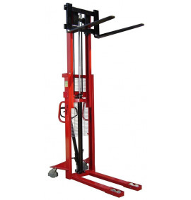 1000kg Manual Pallet Stackers with Adjustable Forks