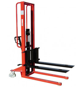 500kg Manual Pallet Stacker with Adjustable Forks