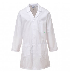 Portwest Anti-Microbial Lab Coat - White