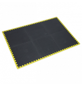 Interlocking EVA Foam Workshop Mat Set 1240 x 1825mm with Hi-Vis Edges
