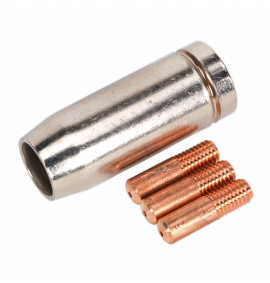 Conical Nozzle x 1 Contact Tip 0.8mm x 3 MB14