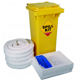 120 Litre Oil & Fuel Kit - Yellow Wheelie Bin