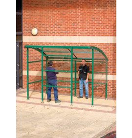 Premier Smoking Shelter - Perspex Sides