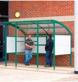 Premier Smoking Shelter - Steel Sides
