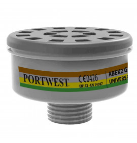 Portwest ABEK2 Gas Filter Universal Tread