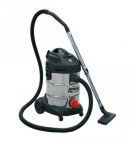 Vacuum Cleaner Industrial 30ltr 1400W/230V Stainless Drum