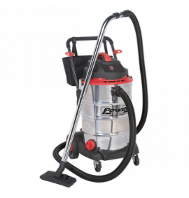Vacuum Cleaner Wet & Dry 60ltr Stainless Drum 1600W/230V