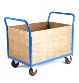 Platform Trolley With Removable Plywood Sides
