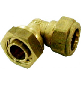 Compression Bent Swivel Tap Connector - CO10L