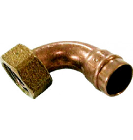 Solder Ring Copper Bent Tap Connector - YS64L