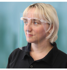 250 Micron APET Face Shield Glasses (PACK OF 100)